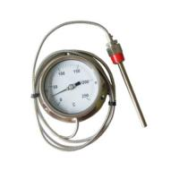 Quality 0 - 250 C Stainless Steel Pressure Remote Reading Thermometer With Capillary Tube 3M / 5M for sale
