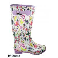 Quality Very Fashion Lady's Flowery Print Rubber Boots (RS00043) for sale
