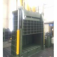 Quality Manual Vertical Baler Machine For Cardboard Film Straw , Manual Valve Operation for sale