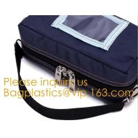 China Bank Pack Case Manufacturer Customize Strong Power Waterproof Locking Secured Bank Tool Coin Money Bag With PVC Window on sale