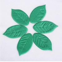 Quality Small Featival Christmas Ornament Crafts Lovely Satin Leaves Shape for sale