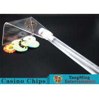 Quality Adjustable Casino Game Accessories Poker Chip Rake Built - In Detachable Design for sale