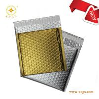 China Strong seal adhesive custom rose gold metallic foil bubble mailer mialing bags on sale