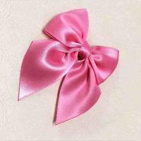 China Kids Festival Gift Ribbon Bow Crafts 12*14 Cm Small Pink Ribbon Bows for sale