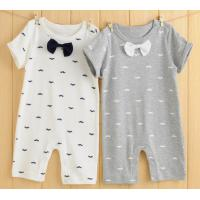 Quality 0 to 6 months Summer baby organic cotton short sleeve rompers double-sided cloth material baby clothes for sale