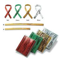 Quality PET metallic roll wired twist ties for sale