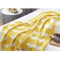 Quality 12GG Computer Knitted Soft Baby Blankets For Children , Cute Heart Logo for sale