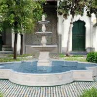 Stone Fountain Carved Marble Water Fountain for Garden Outdoor