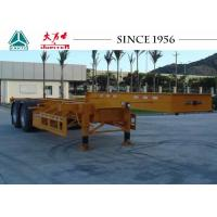 Quality 20/40FT Skeletal Trailer Chassis , 2 Axles Gooseneck Container Trailer for sale