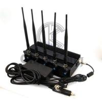 Quality WIFI GPS Office Cell Phone Signal Jammer 2-40m Jam Radius Continous Running for sale