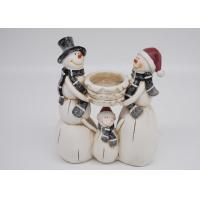 Quality Winter Season Polyresin Crafts Christmas Figurines Decorations Candle Holder for sale