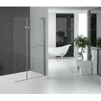 Buy cheap Folding Glass Shower Doors Hinged Shower Screen Chromed Aluminum Profile from Wholesalers