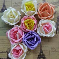 Quality DIY Wedding Small Fabric Craft Flowers 8 Colors Decorative Flat On Back for sale