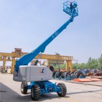 Quality Street Lamp Repairing Telescopic Boom Manlift Fourteen Meters Diesel Motorized for sale