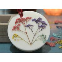 Quality Aroma Decorative Pressed Flower Gifts Material Green Plant Epoxy Embossed Specimens for sale
