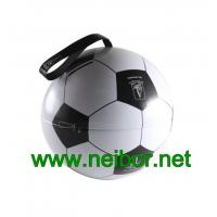 China Football design tin ball tin bauble with ribbon for candy and chocolate packaging on sale
