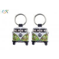 China Twill Background Embroidered Keychain Irregular Shape With Laser Cut for sale