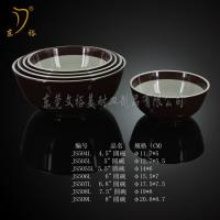 Quality Melamine Tableware brown bowl plate melamine dish ware, plastic soup bowl for sale