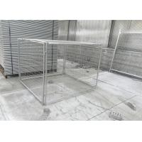Quality DIY Metal Garbage Cage 14&84 Microns Hdg Cage Panels 1.5mx1.8mx1.8m for sale