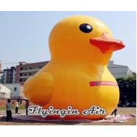 Quality Customized Yellow Cute Inflatable Duck with Blower for Decoration for sale