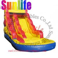 Quality inflatable water pool giant slide for sale