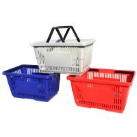 Quality Multi Colors Supermarket Shopping Baskets / Plastic Shopping Baskets With Hand for sale
