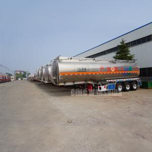 Quality 3 axles Aluminum alloy fuel tanker trailers aluminum crude oil tank trailer for sale for sale