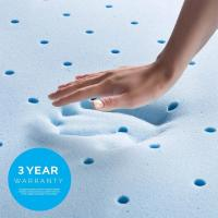 Quality Durable Thick Foam Mattress Topper , Ventilable Blue Double Foam Mattress for sale