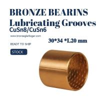 Buy cheap Tin Bronze Sleeve Bushing BRM 30 - 34 L20 with Lubricating Grooves FB090 from wholesalers
