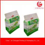 Laminated Material Flat Bottom Pouches Tea Ziplock Pouches Eco - Friendly