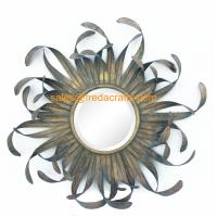 Quality Direct Factory Price Nice Design Sun Shape Metal Decorated Wall Mirrors for sale