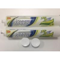 Quality Transparent Plastic Barrier Laminated Desensitizing Toothpaste Tube / Plastic Squeeze Tubes for sale