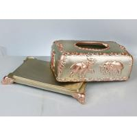 Quality Custom Pattern Resin Decoration Crafts , 260*160*130mm Household Napkin Box for sale