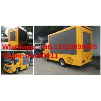 HOT SALE! Forland 4*2 RHD three-side P6 mobile LED screen advertising truck,forland RHD mini diesel P6 outdoor LED truck