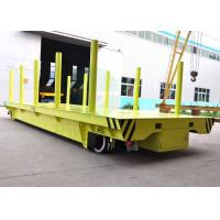 Quality handrail factory material transfer platform on rails for coil handling for sale