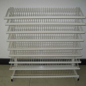 China Floor Standing Adjustable Wire Rack , Mulitple Tier Adjustable Display Shelves on sale