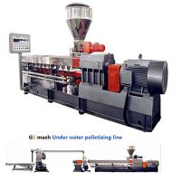 Quality 300 - 400 Kg / H Double Screw Extruder Machine With Under Water Pelletizing System for sale