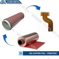 Quality RA COPPER FOIL--TREATED/USED FOR FPC/FCCL/THINCKNESS:12/18/25/35/50UM for sale