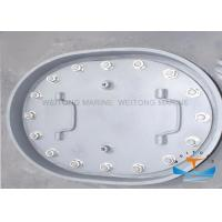 Quality Quick Acting Marine Steel Manhole Cover Easy Operation 800x400mm Oval Shape for sale