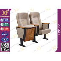 Quality Customized Seat Advanced Molded Foam Steel School Auditorium Chairs With Back Pad for sale