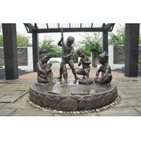 China Realistic Large Outdoor Bronze Sculptures Children Playing Shape Antique Design for sale