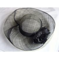 Quality sinamay hat lady black FTC13-28 for sale