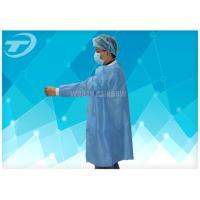 Quality Lab Disposable Visitor Coats With Knitted Cuffs And Collar / BPP Fabric for sale