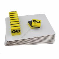 Quality 3mm personalized pack lapboard plain whiteboard set with eraser for Aamzon selling for sale