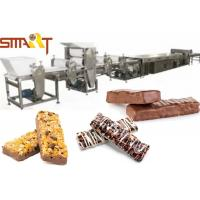 Quality Chocolate Coating Cereal Bar Cutting Machine Almomds / Peanut / Sesame Candy Bar Production for sale