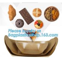 China Disposable brown kraft paper boat paper food tray,Latest design food grade cardboard food fold paper boat trays bagease on sale