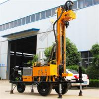 Quality Tyre Based 380V Water Well Drilling Rig With Diesel Engine Drlling Depth 230m Borehole for sale