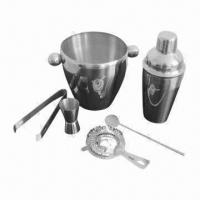 Quality 5-piece Barware, Made of Food-grade Stainless Steel  for sale