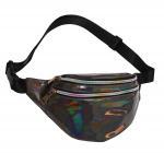 Quality Fashion Waist Pack Holographic Waist Bag Large Fanny Belt Laser Leather Design Bum Bag 3 Pouches Rainbow Zipper Wholesal for sale