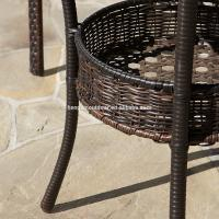 Buy All-Weather Outdoor Furniture Garden Multibrown Wicker 5pc Dining Table Set at wholesale prices